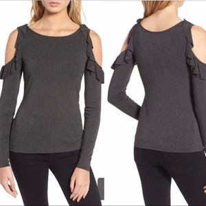 Bailey 44 Ruffled Cold Shoulder Long Sleeve [CW]